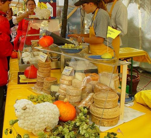 Mercado de quesos alemanes