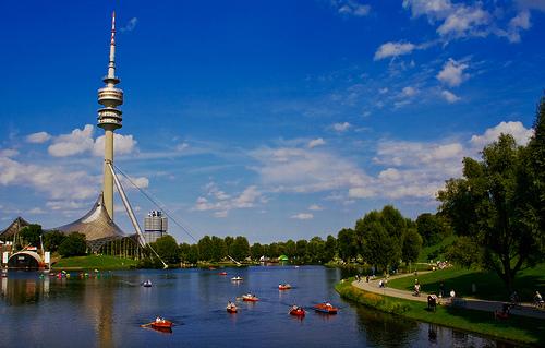 Cine en el Parque Olimpico de Munich