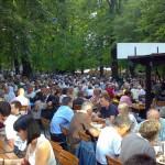 Biergarten, el jardín de la cerveza en Baviera
