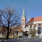 El exterior de la Catedral de Augsburgo