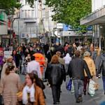 El centro de Krefeld para hacer compras