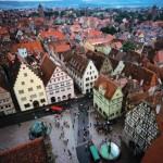 Turismo por la ciudad medieval de Rothenburg ob der tauber