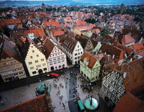 Vista de Rohtenburg ob der Tauber