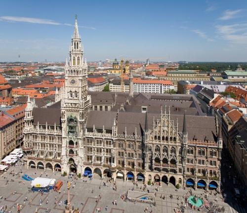 Ayuntamiento de Munich y Marienplatz