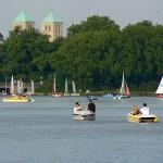 Lago Aasee, recreación en Münster