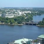 Lago Alster, área de recreación en Hamburgo