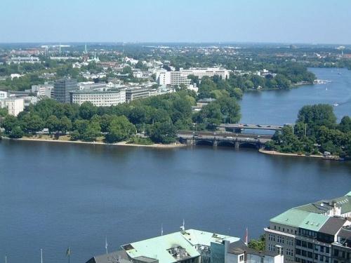 Lago Alster en Hamburgo