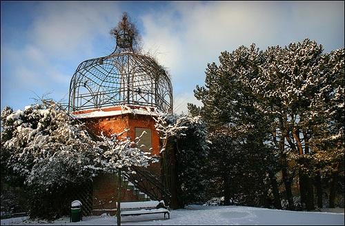 Cupula en el Antiguo Jardin Botanico de Kiel