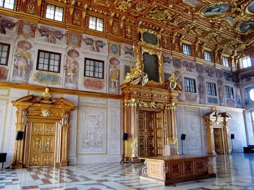 Salon dorado en el Ayuntamiento de Augsburgo