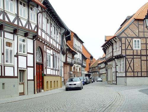 Casas con marcos de madera en Hornburg en Baja Sajonia