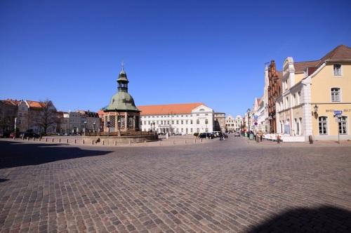 Plaza del Mercado en Wismar