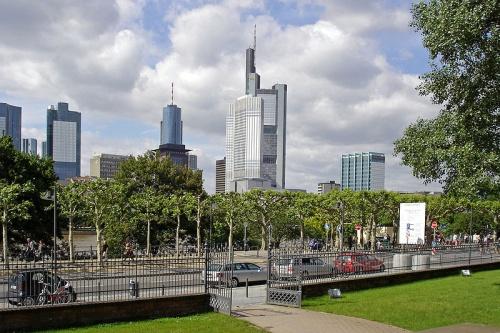Commerzbank y el distrito financiero de Frankfurt