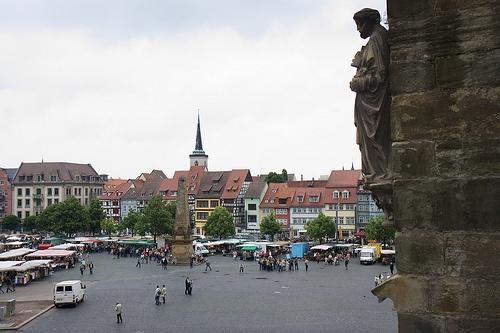 Domplatz en Erfurt