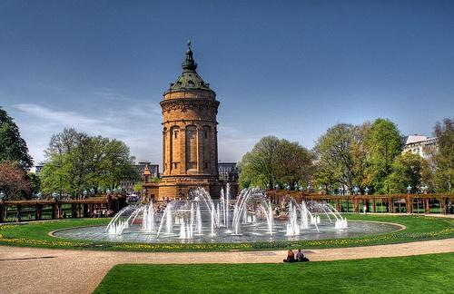 Friedrichsplatz en Mannheim
