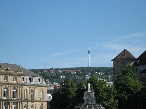 Fernsehturm vista desde el centro de Stuttgart
