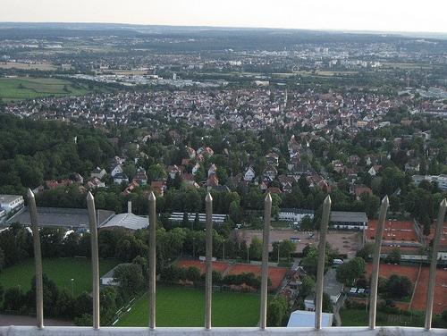 Vista de Stuttgart desde Fernsehturm