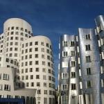 Dusseldorf Hafen, hermoso y moderno distrito