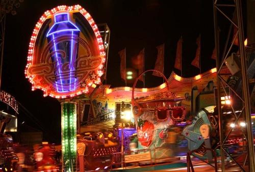 Parque de diversiones en Hamburger Dom