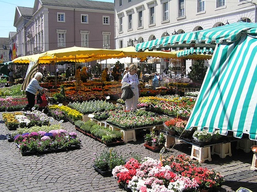 Marktplatz en Karlsruhe