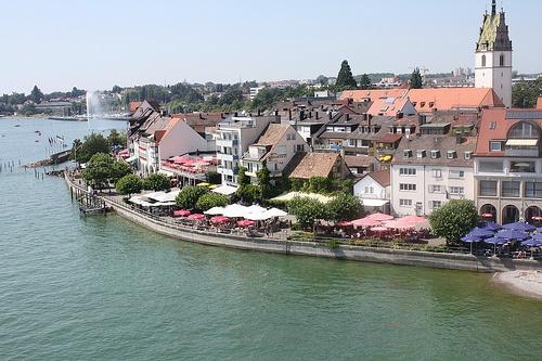 Vista de Friedrichshafen desde la torre del embarcadero