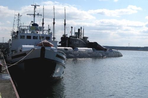 Submarino U 461 en Peenemuende
