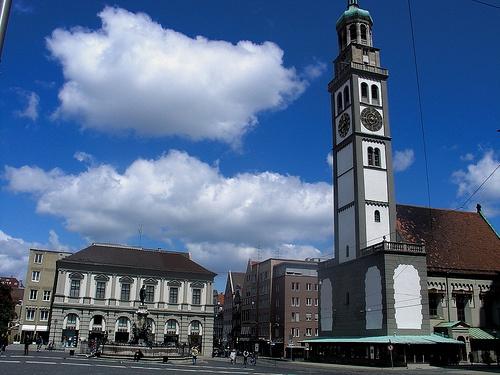 Perlachturm en Augsburgo
