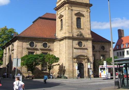 Plaza de Hugonote en Erlangen