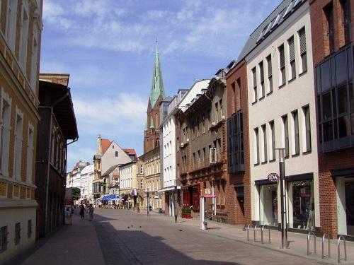 Calle Meckelnburgstrasse en Schwerin