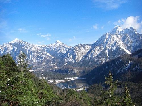 Vista en las montañas de Fussen