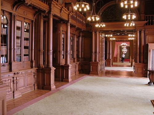 Interior de la casa principal de Villa Hugel