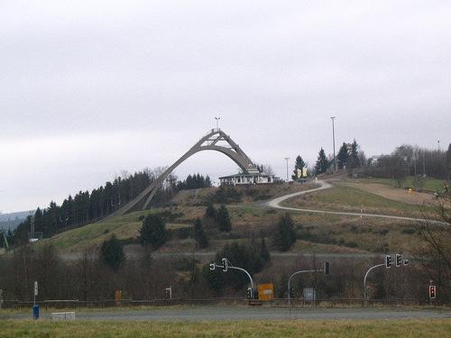 Plataforma de salto de esqu� en Winterberg